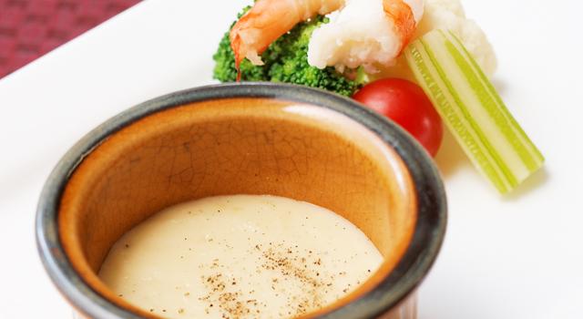 彩り野菜のチーズフォンデュ風