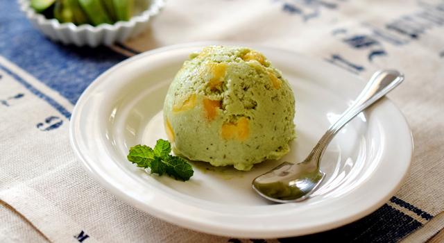 豆腐とアボカドのアイスクリーム
